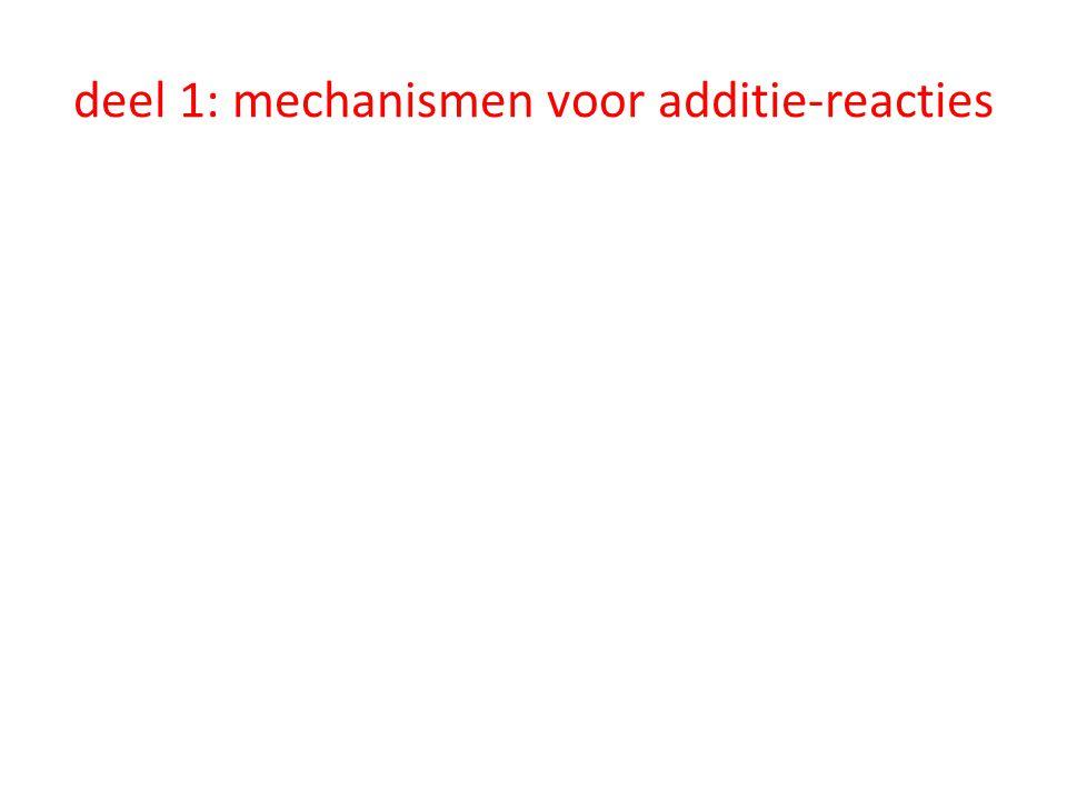 deel 1: mechanismen voor additie-reacties