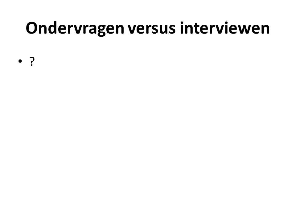 Ondervragen versus interviewen