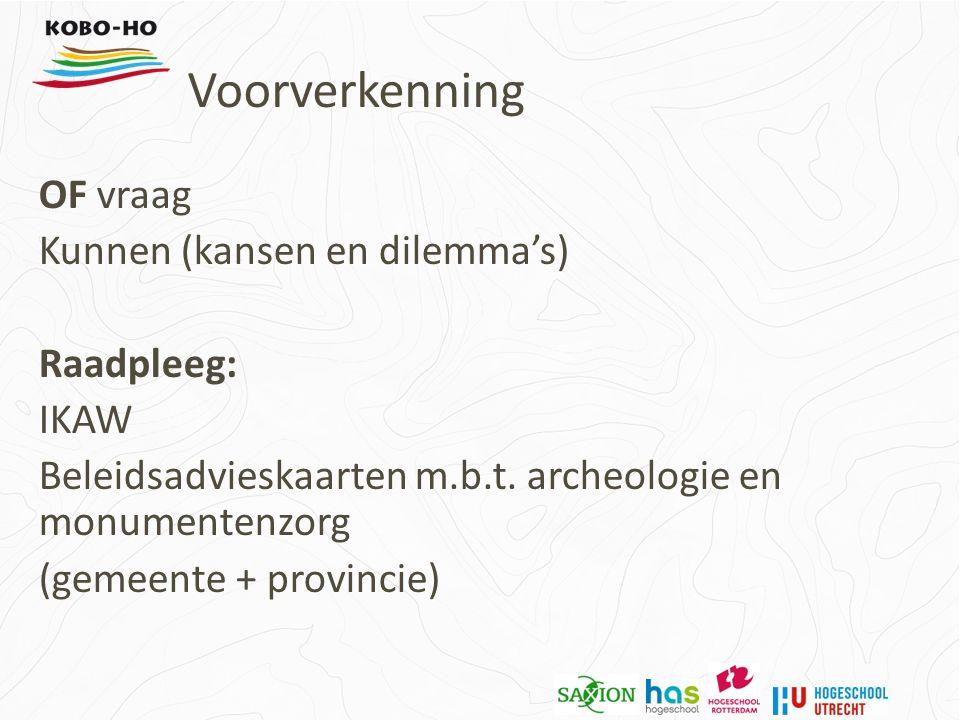 OF vraag Kunnen (kansen en dilemma's) Raadpleeg: IKAW Beleidsadvieskaarten m.b.t.