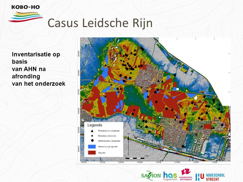 Inventarisatie op basis van AHN na afronding van het onderzoek Casus Leidsche Rijn