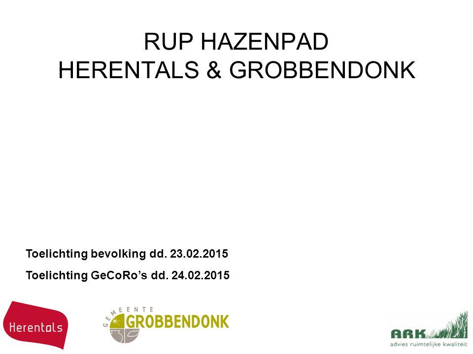 RUP HAZENPAD HERENTALS & GROBBENDONK Toelichting bevolking dd.