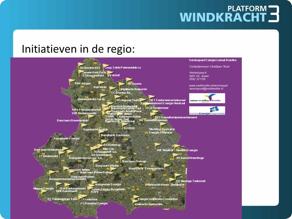 Initiatieven in de regio: