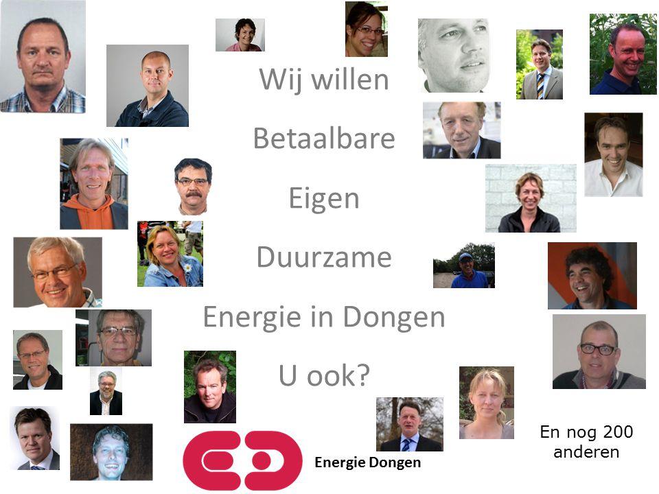 Energie Dongen Wij willen Betaalbare Eigen Duurzame Energie in Dongen U ook? En nog 200 anderen