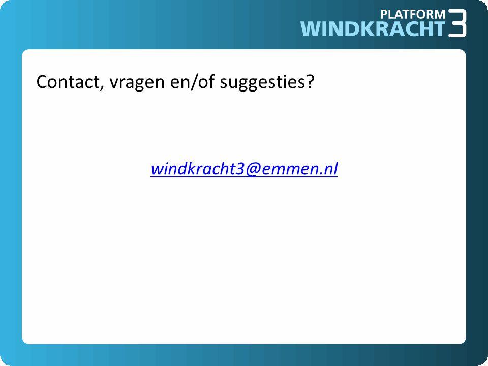 Contact, vragen en/of suggesties? windkracht3@emmen.nl