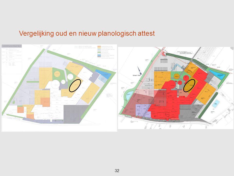 32 Vergelijking oud en nieuw planologisch attest
