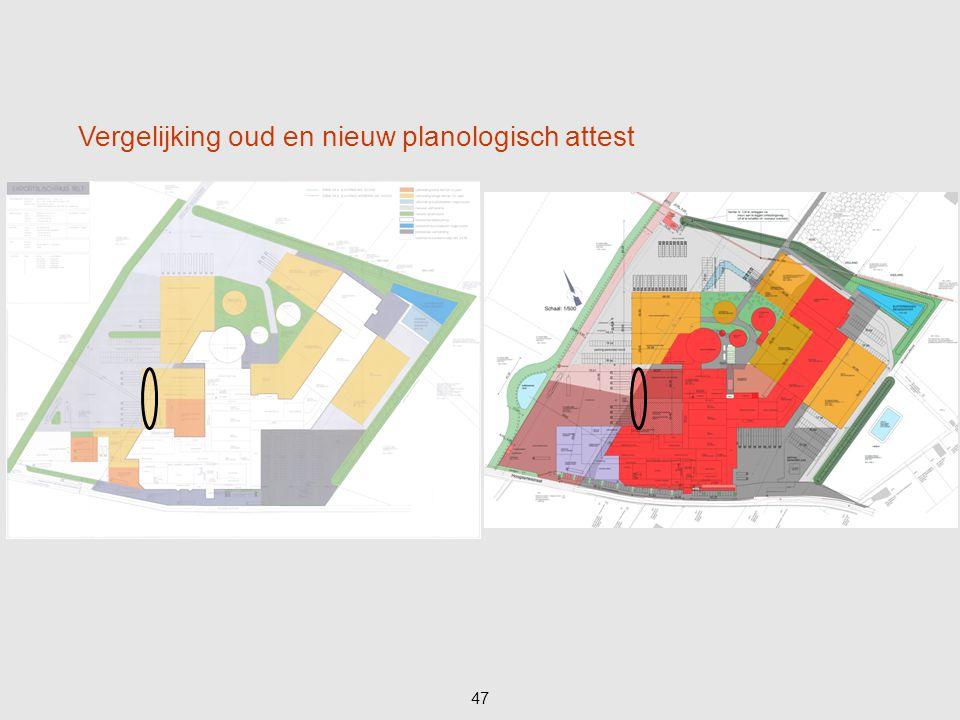 47 Vergelijking oud en nieuw planologisch attest