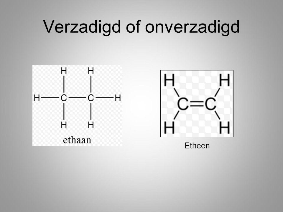3.a)Verbindingen B en D zijn onverzadigd b)Verbindingen A en C zijn vertakte moleculen 4.
