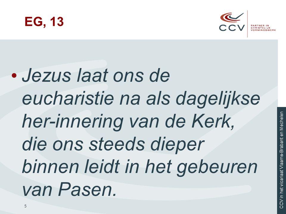 CCV in het vicariaat Vlaams-Brabant en Mechelen Aan de slag.