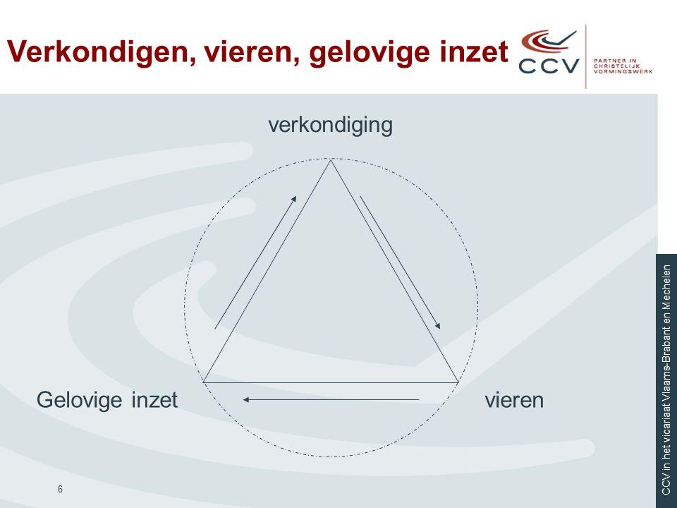 CCV in het vicariaat Vlaams-Brabant en Mechelen Verkondigen, vieren, gelovige inzet 6 verkondiging vierenGelovige inzet