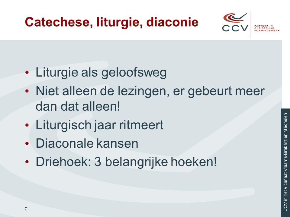 CCV in het vicariaat Vlaams-Brabant en Mechelen EG, 80 We mogen ons ons missionaire enthousiasme niet laten ontnemen.