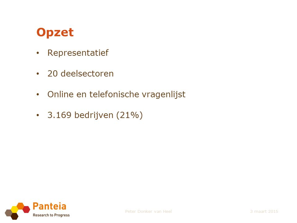 Conclusies Arbeidsmarktknelpunten (1) 7% bedrijven heeft openstaande vacatures.
