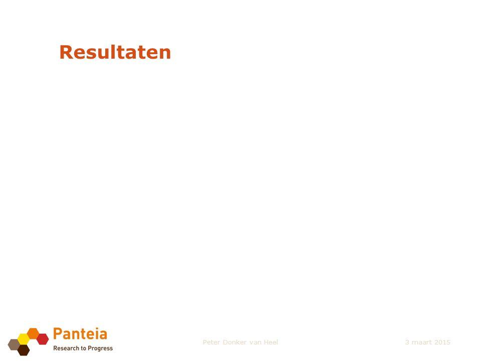 Resultaten Peter Donker van Heel3 maart 2015
