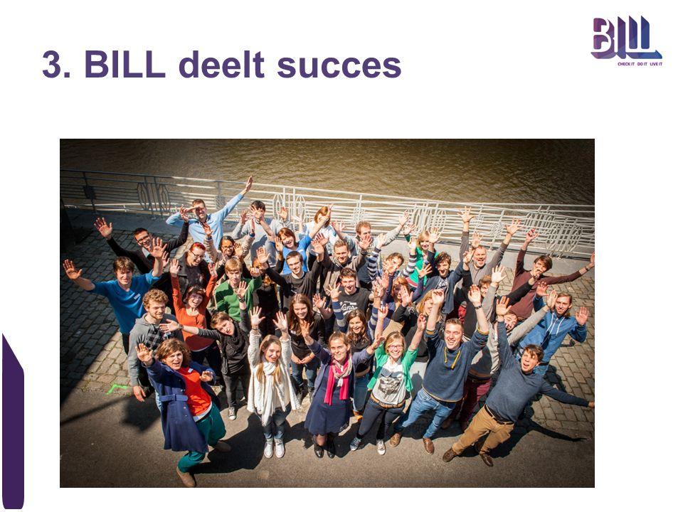 3. BILL deelt succes