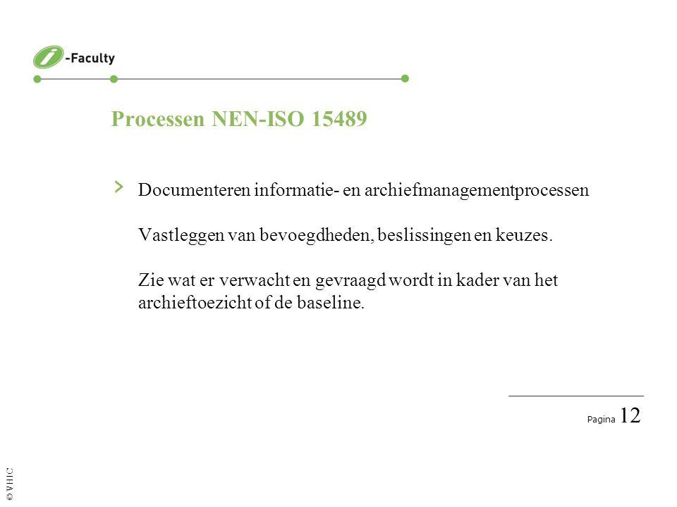 Pagina 13 © VHIC En ook nog NEN-ISO 15489 › Toezicht en controle Wordt voldaan aan de gestelde eisen.