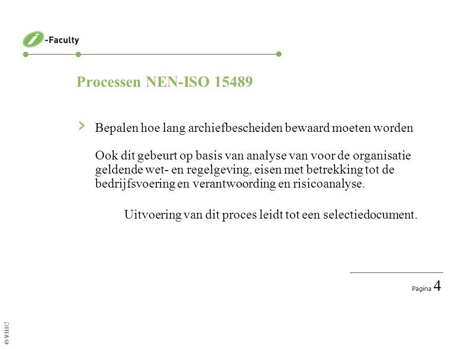 Pagina 5 © VHIC Processen NEN-ISO 15489 › Opnemen van archiefbescheiden in het archiefsysteem Er wordt een relatie gelegd met de maker en de ontstaanscontext van het stuk.