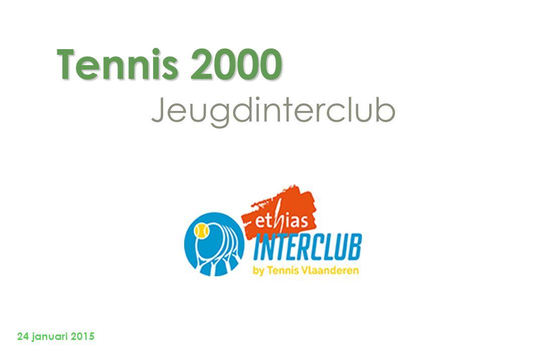 Tennis 2000 Tennis 2000 Jeugdinterclub 24 januari 2015