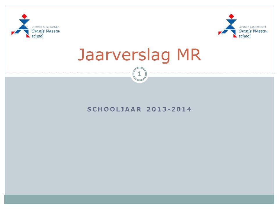 SCHOOLJAAR 2013-2014 Jaarverslag MR 1