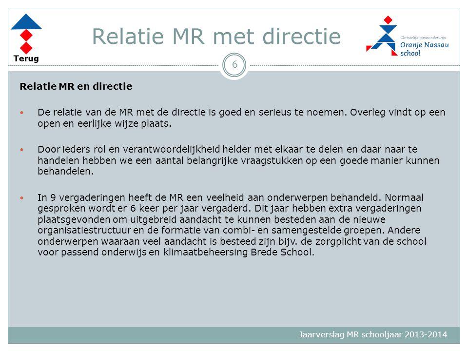 Jaarverslag MR schooljaar 2013-2014 GMR Wat is de GMR.