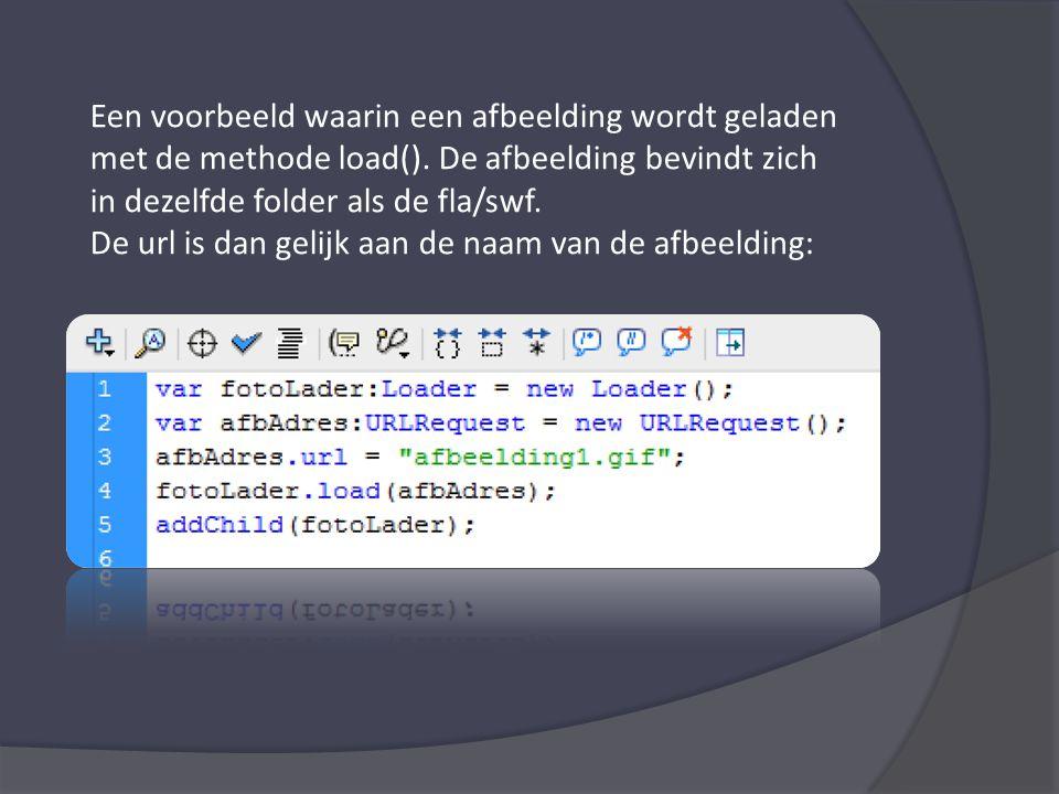 Een voorbeeld waarin een afbeelding wordt geladen met de methode load().
