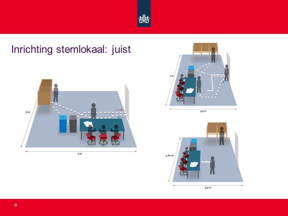 Inrichting stemlokaal: juist 8
