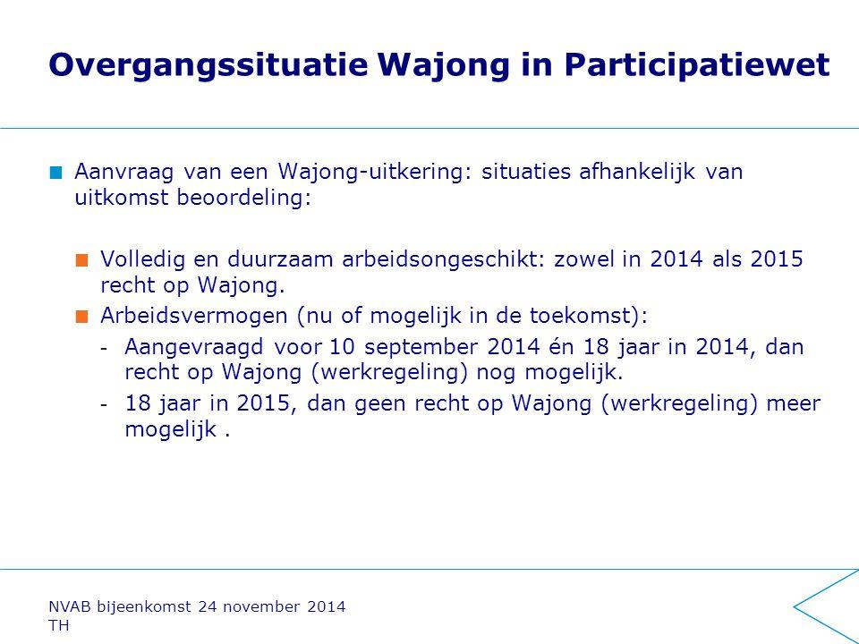 Overgangssituatie Wajong in Participatiewet Aanvraag van een Wajong-uitkering: situaties afhankelijk van uitkomst beoordeling: Volledig en duurzaam ar