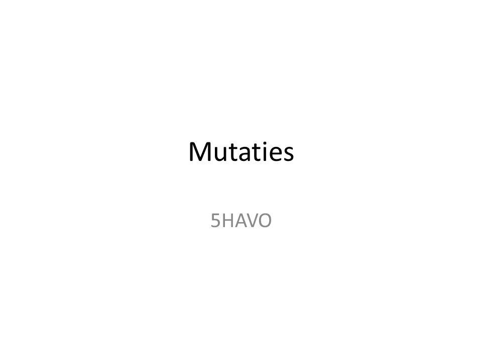 Mutaties 5HAVO