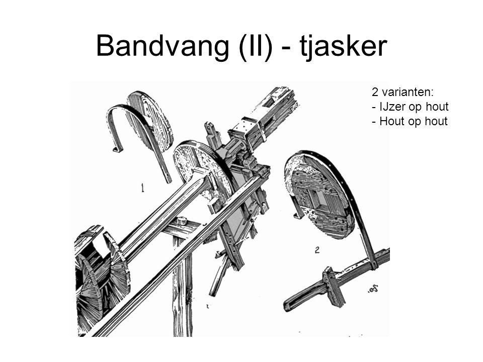 Bandvang (II) - tjasker 2 varianten: - IJzer op hout - Hout op hout