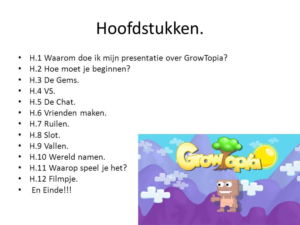 Hoofdstukken.H.1 Waarom doe ik mijn presentatie over GrowTopia.