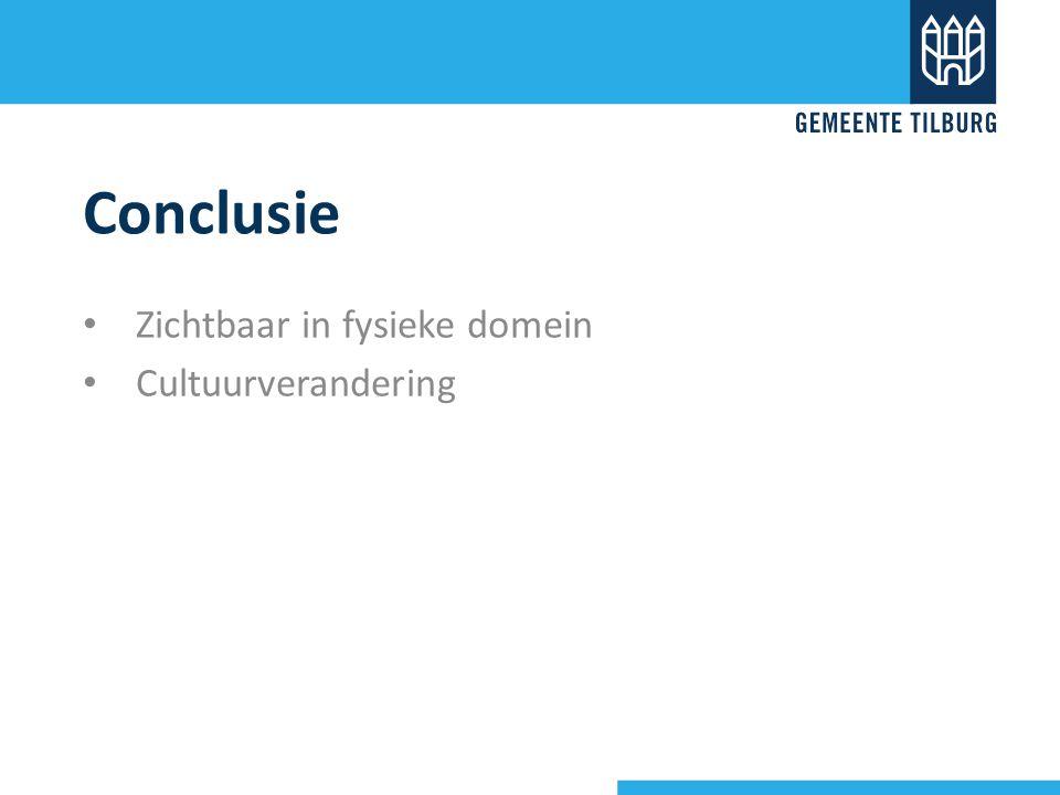 Conclusie Zichtbaar in fysieke domein Cultuurverandering