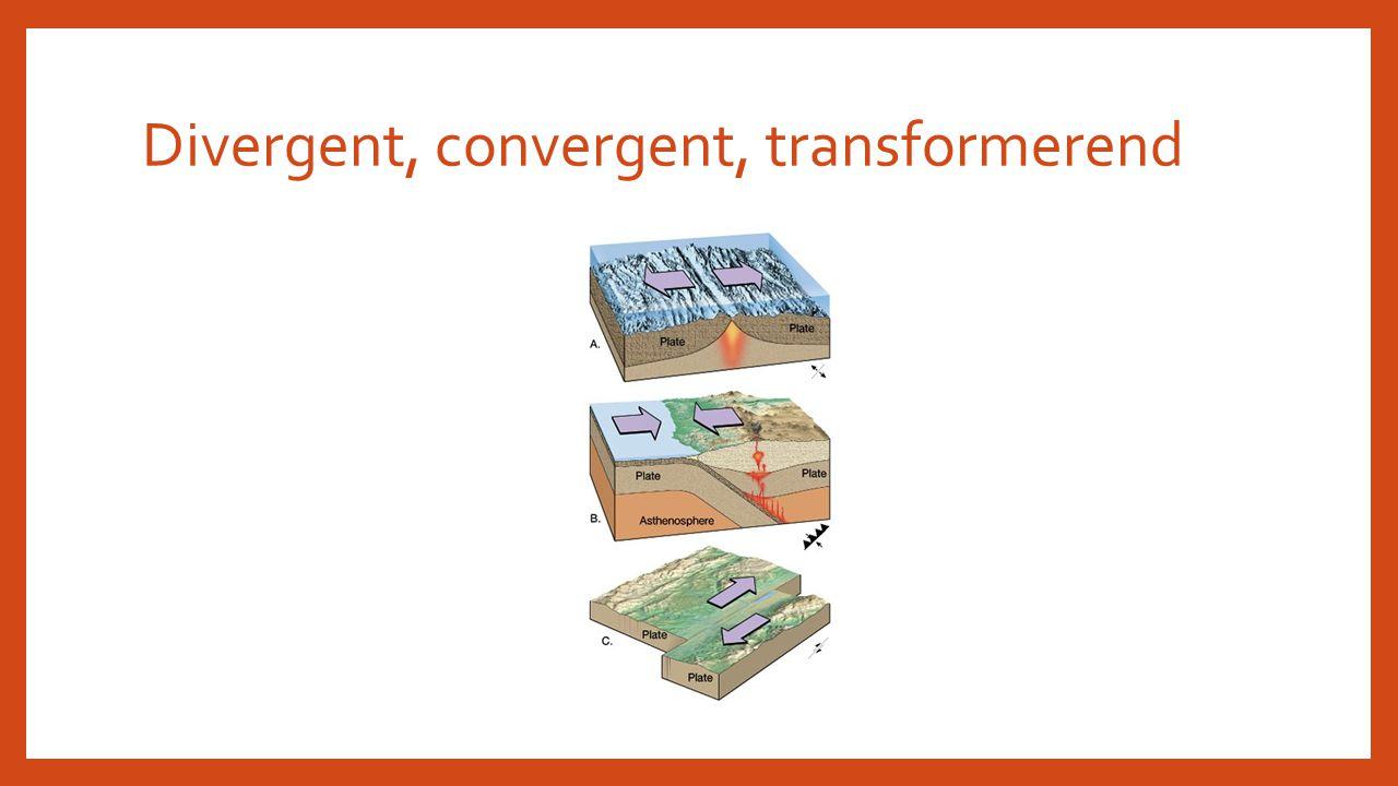 Divergent, convergent, transformerend