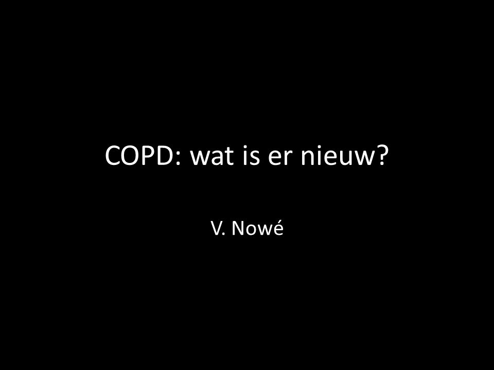Acute exacerbations of COPD: heterogeneity Bafadhel M. et al, AJRCCM 2011; 184: 662-671.