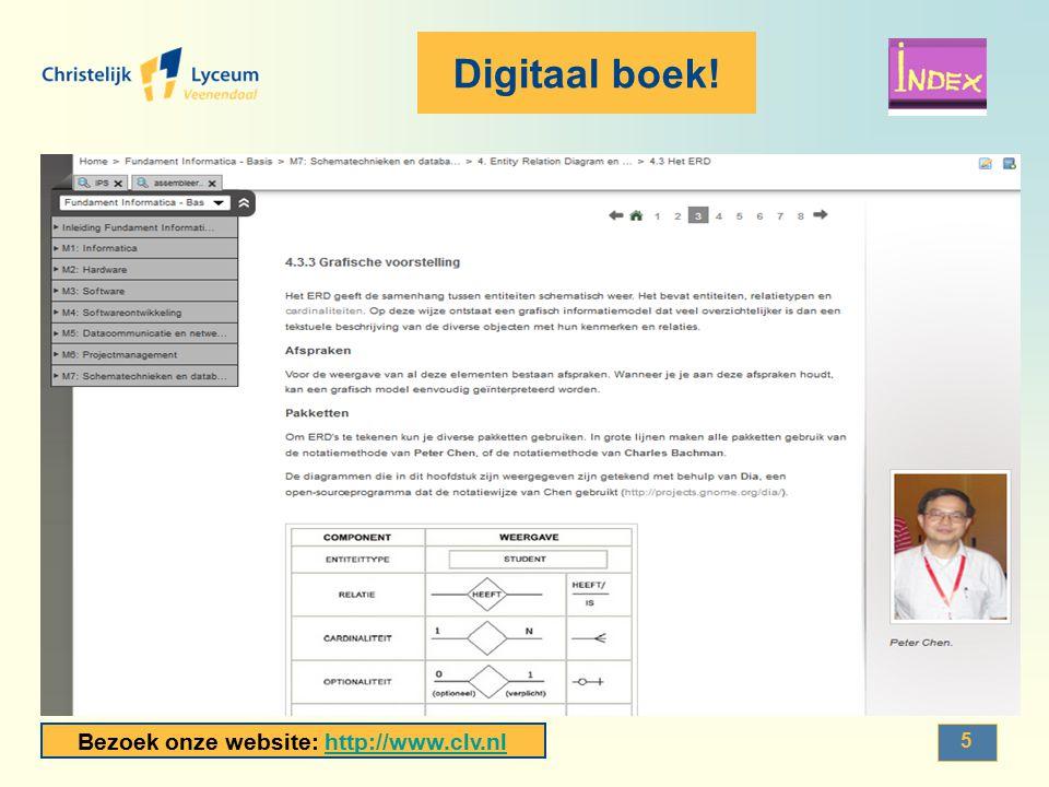 Bezoek onze website: http://www.clv.nlhttp://www.clv.nl 6 Deelonderwerpen Informatica