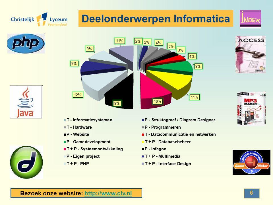 Bezoek onze website: http://www.clv.nlhttp://www.clv.nl Voorbeeld Gamedevelopment Je werkt met het programma Gamemaker.