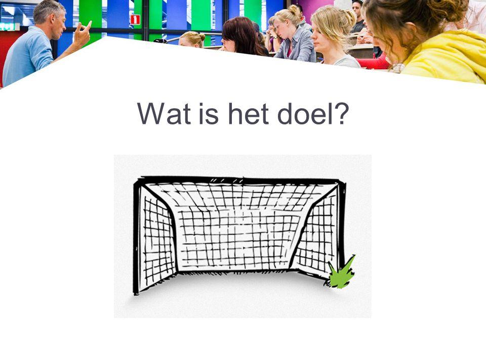 Wat is het doel?