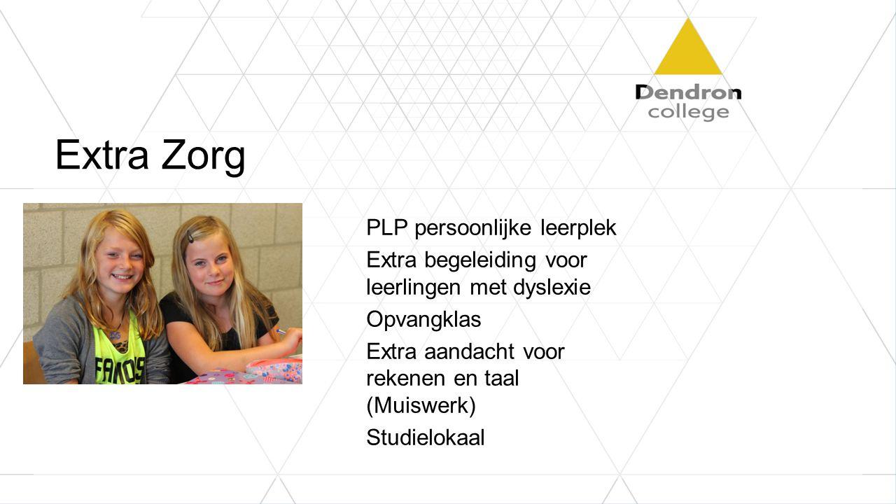Extra Zorg PLP persoonlijke leerplek Extra begeleiding voor leerlingen met dyslexie Opvangklas Extra aandacht voor rekenen en taal (Muiswerk) Studielokaal