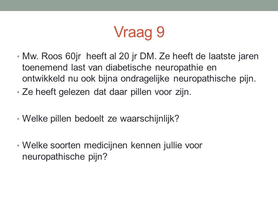 Vraag 9 Mw.Roos 60jr heeft al 20 jr DM.