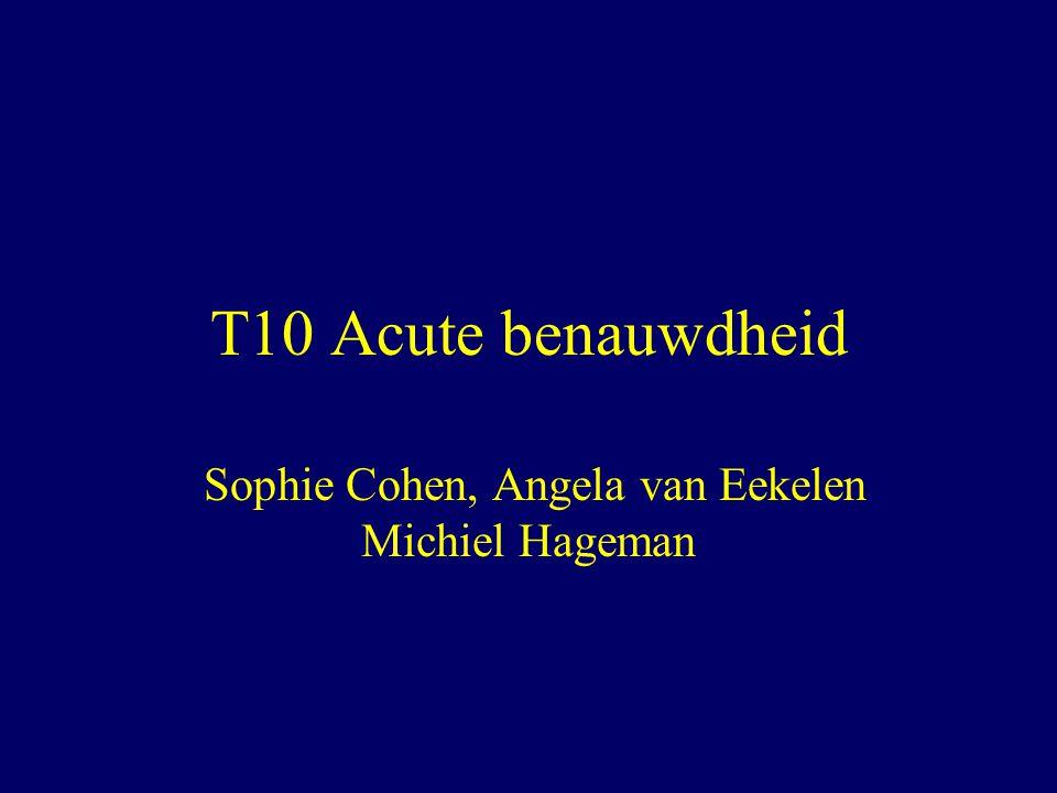 T10 Acute benauwdheid Sophie Cohen, Angela van Eekelen Michiel Hageman