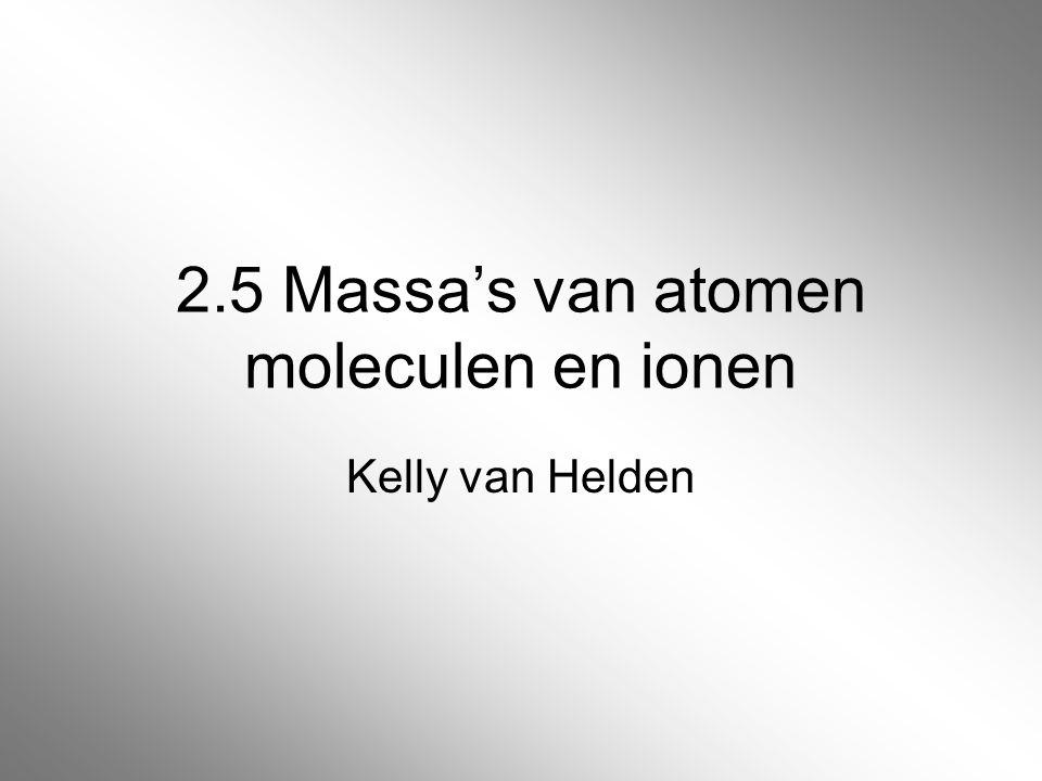 2.6 De hoeveelheid van een stof De massa van een hoeveelheid stof reken je om in volume met behulp van de dichtheid van de stof.