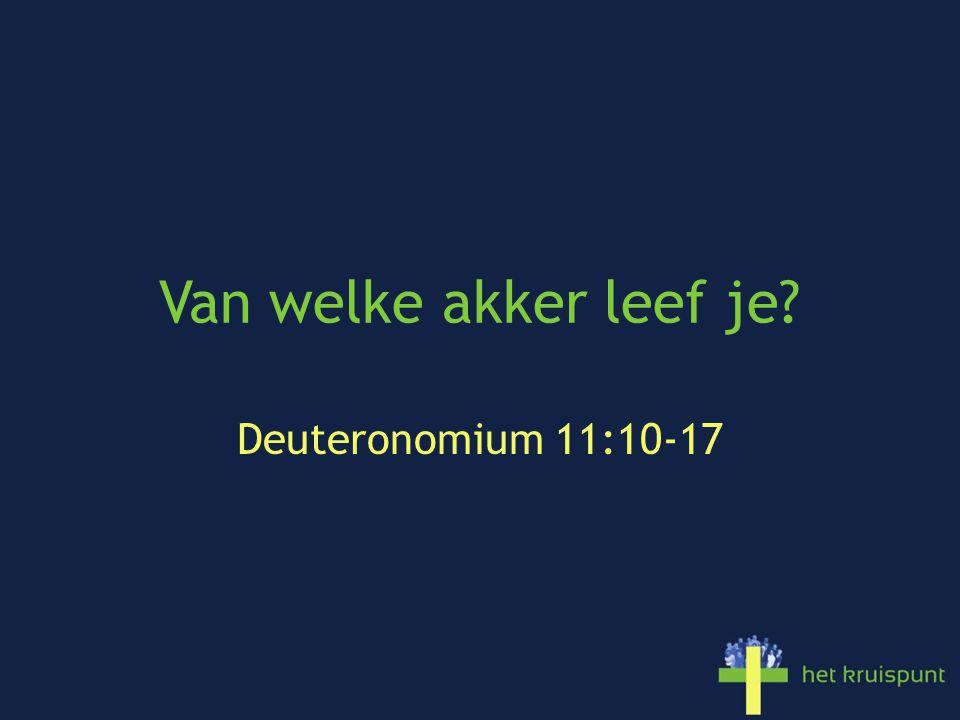 Van welke akker leef je? Deuteronomium 11:10-17