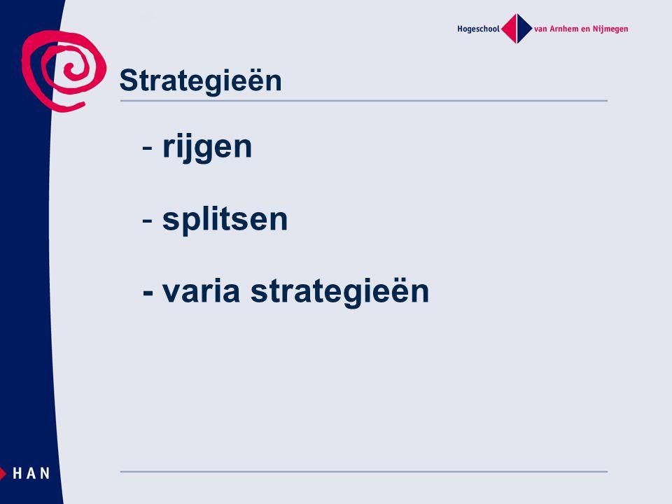 Strategieën - rijgen - splitsen - varia strategieën