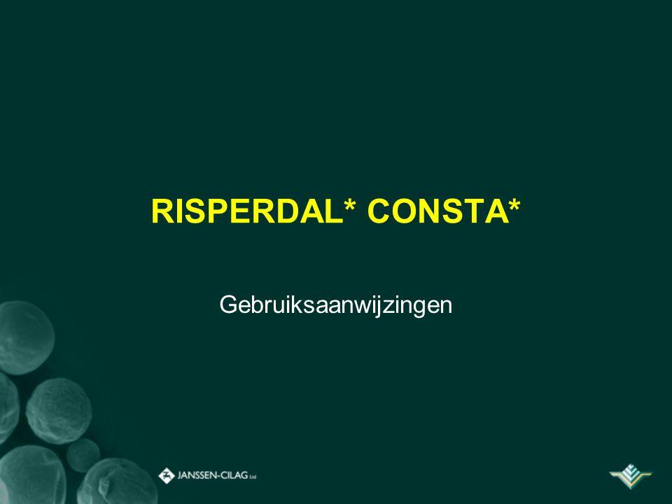 RISPERDAL* CONSTA* Gebruiksaanwijzingen