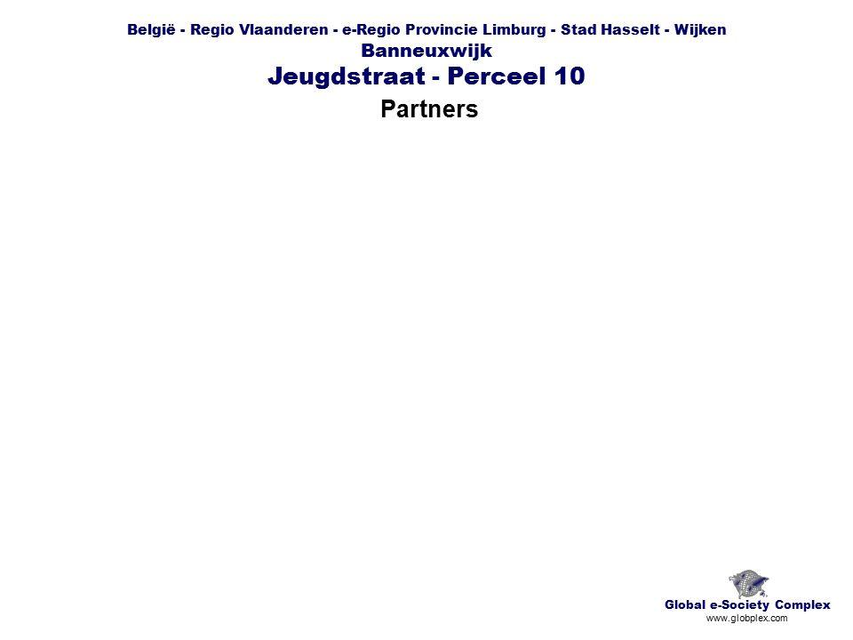 België - Regio Vlaanderen - e-Regio Provincie Limburg - Stad Hasselt - Wijken Banneuxwijk Jeugdstraat - Perceel 10 Partners Global e-Society Complex www.globplex.com