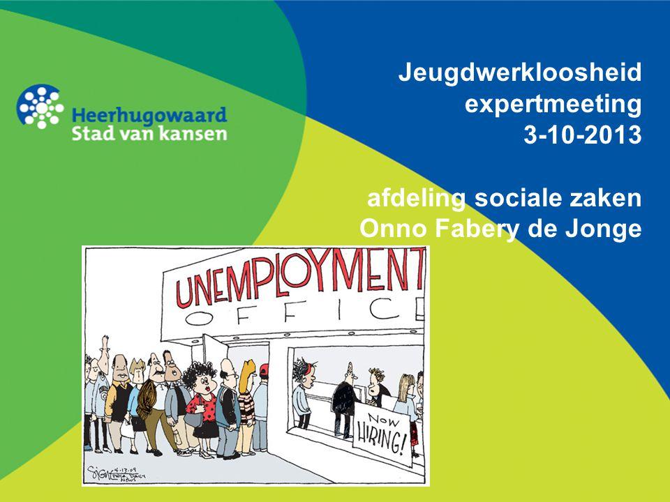 Jeugdwerkloosheid expertmeeting 3-10-2013 afdeling sociale zaken Onno Fabery de Jonge