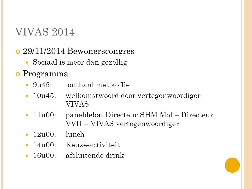 B EWONERSCONGRES - PRAKTISCH Waar.CC 't Getouw in Mol Hoe er geraken.