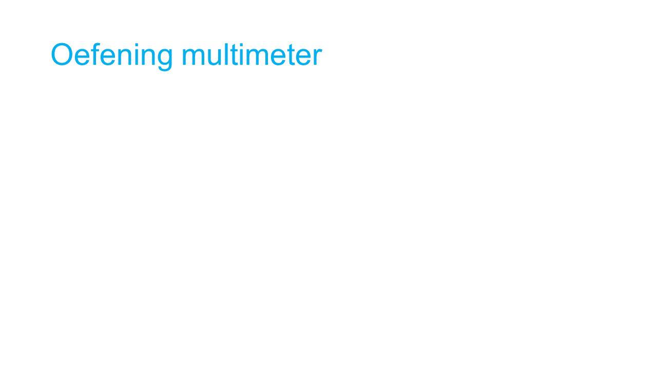 Oefening multimeter