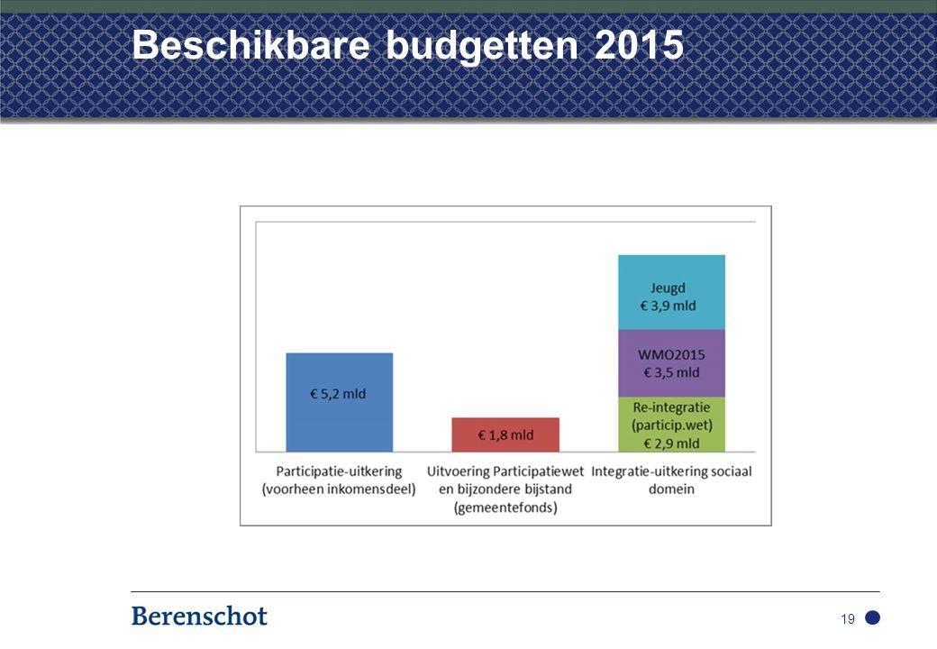 Beschikbare budgetten 2015 19