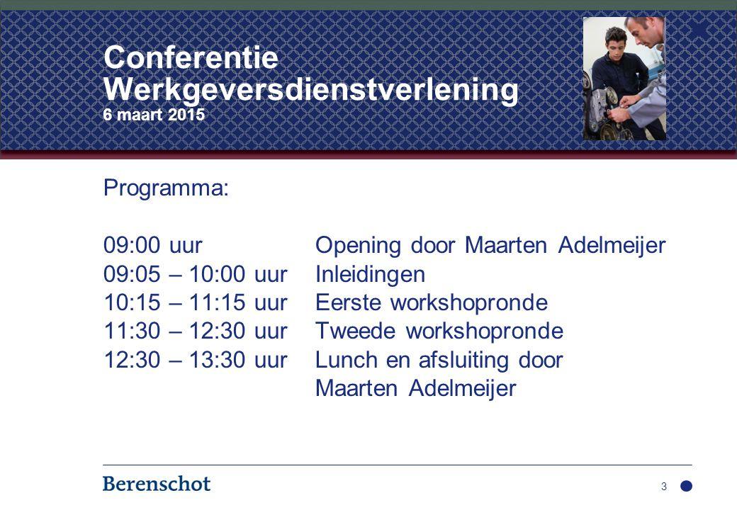 Programma: 09:00 uurOpening door Maarten Adelmeijer 09:05 – 10:00 uurInleidingen 10:15 – 11:15 uurEerste workshopronde 11:30 – 12:30 uurTweede worksho
