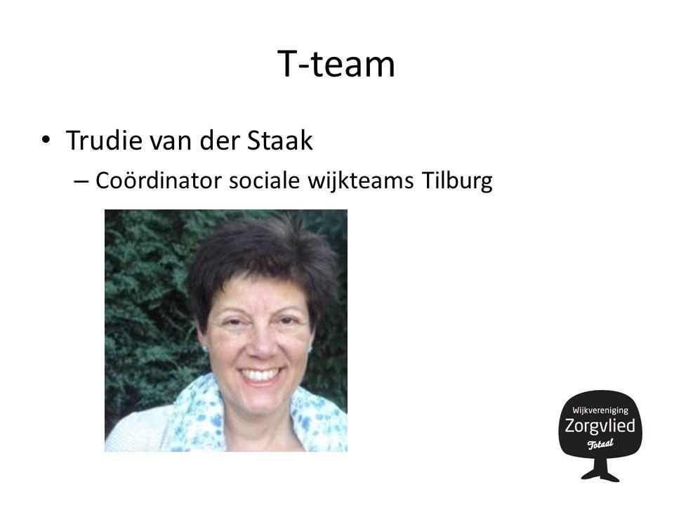 T-team Trudie van der Staak – Coördinator sociale wijkteams Tilburg
