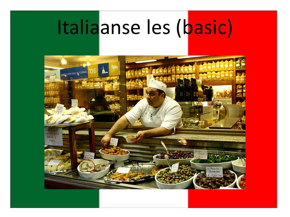 Italiaanse les (basic)