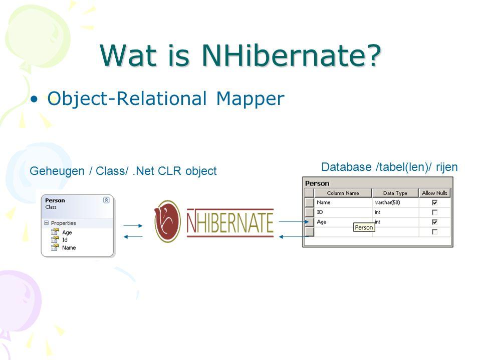 DataItem Value Types Any type mapping: foreign key naar meerdere tabellen Zorg er voor dat je object wordt teruggeven door een DataProvider.SupportedDataObjectNames